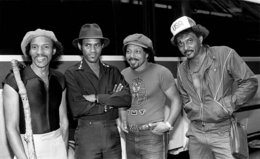 The Neville Brothers: Charles, from left, Cyril, Art and Aaron in New York in August 1981.