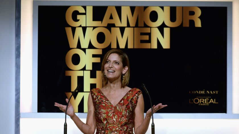 Glamour Editor in Chief Cindi Leive speaks onstage during the Glamour Women of the Year awards at NeueHouse Hollywood on Nov. 14.