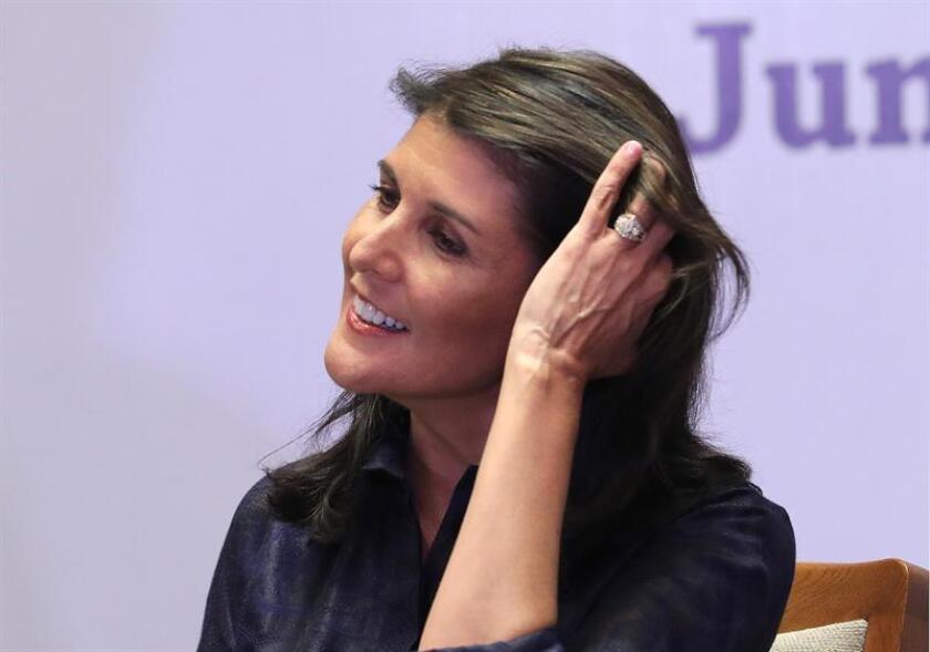 Fotografía de la exembajadora de EEUU ante la ONU, Nikki Haley. EFE/Archivo