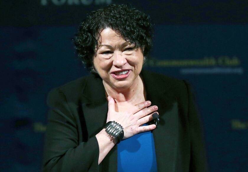"""Sonia Sotomayor, the Supreme Court's first Latina justice, criticized as """"a base tactic"""" a Texas prosecutor's remark about race as a justification for convicting a defendant."""