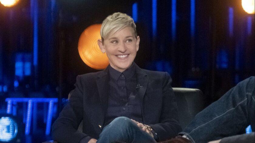 Ellen DeGeneres speaks to David Letterman for his Netflix show.