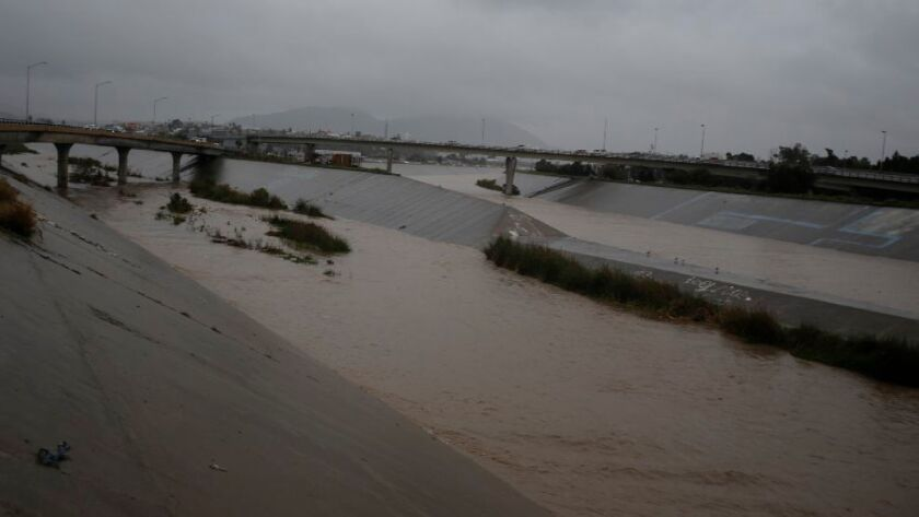 The junction of the Alamar River on the left and the Tijuana River were 143 million gallons of raw sewage were spilled in 17 days.