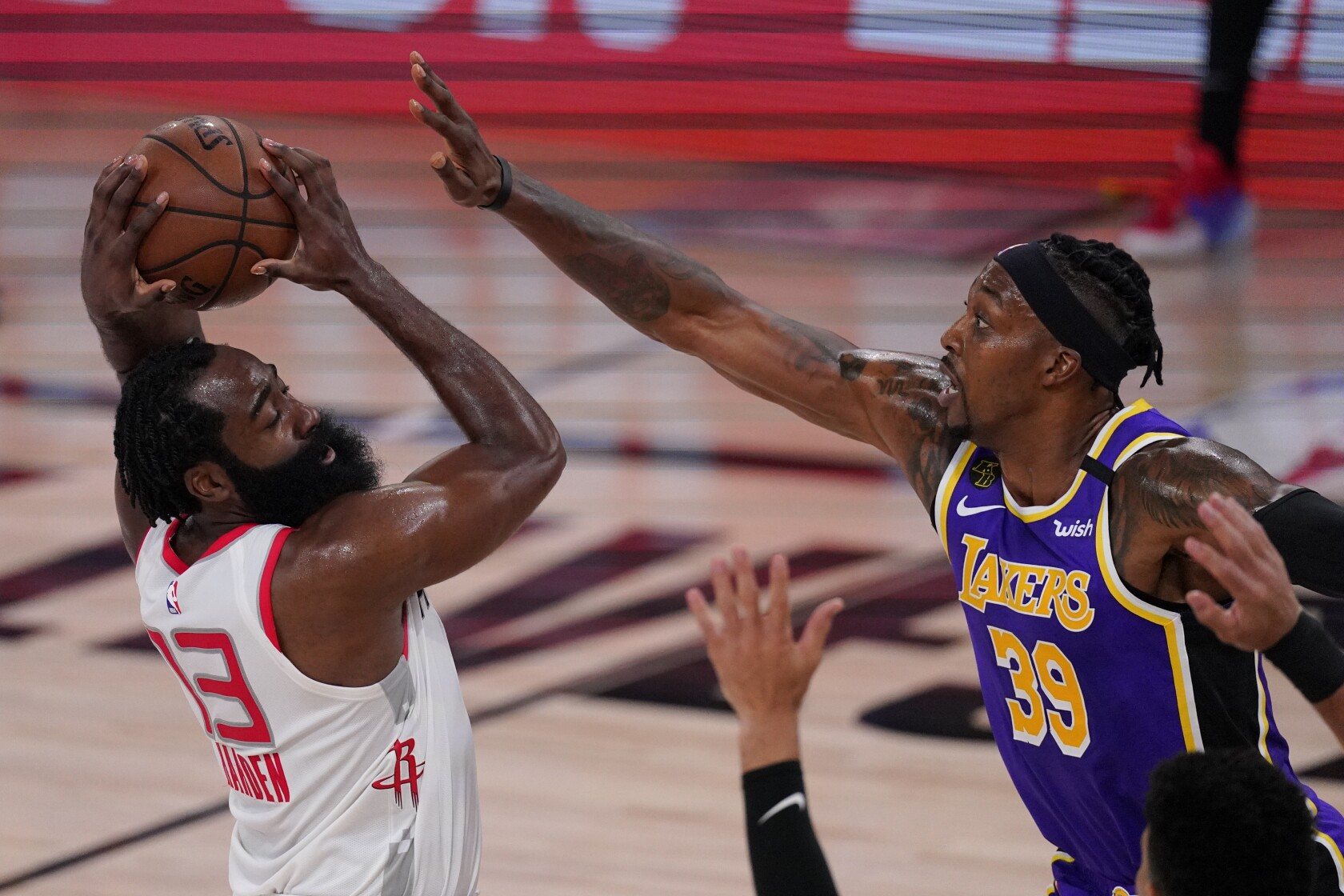 Nba Playoffs Lakers Can T Stop James Harden In Game 1 Loss Los Angeles Times