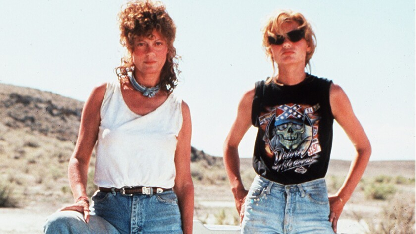 "Susan Sarandon and Geena Davis in ""Thelma & Louise,"" which was added to the National Film Registry on Wednesday."