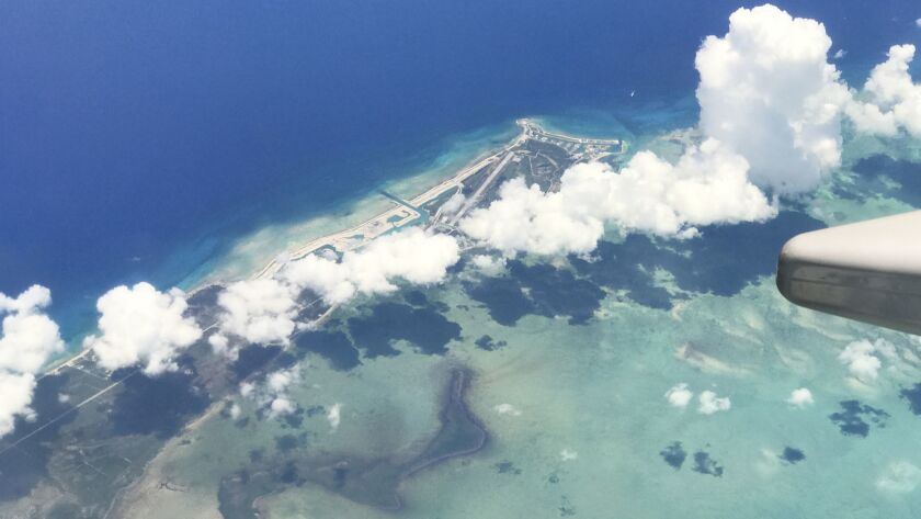 The island of Eleuthera as seen from a plane on June 25, 2018. Disney Cruise Line has been given a tentative green light by the government of the Bahamas to build a cruise port on the southern end of the island.