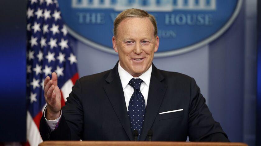 Former White House press secretary Sean Spicer