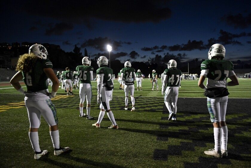 Helix High (above) will play at La Jolla tonight to complete the shortened football season.