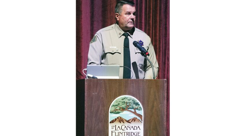 East Patrol Division and Captain Chris Blasnek of the Crescenta Valley Sheriff Station talks about l