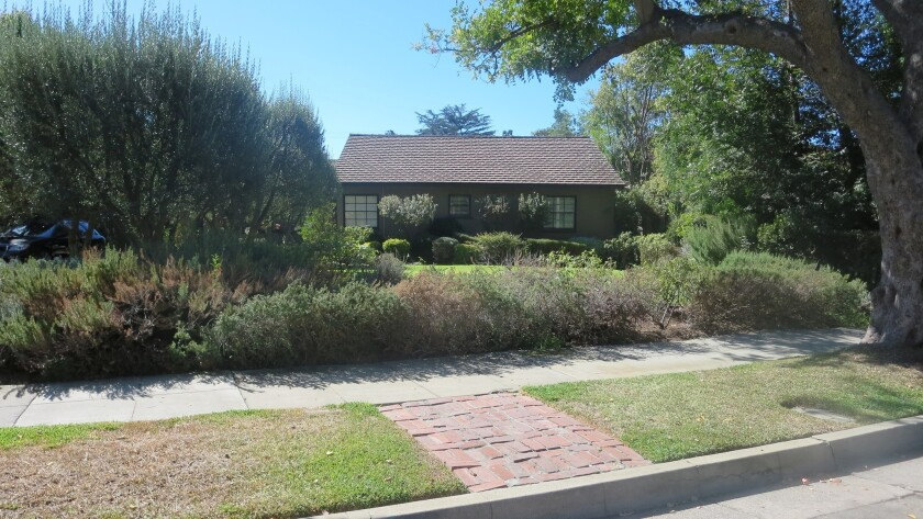 The front yard prior to being re-landscaped.