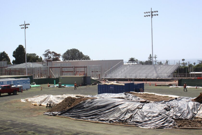 The approximately $12 million construction project at La Jolla High School will upgrade the athletic stadium and make it more accessible.