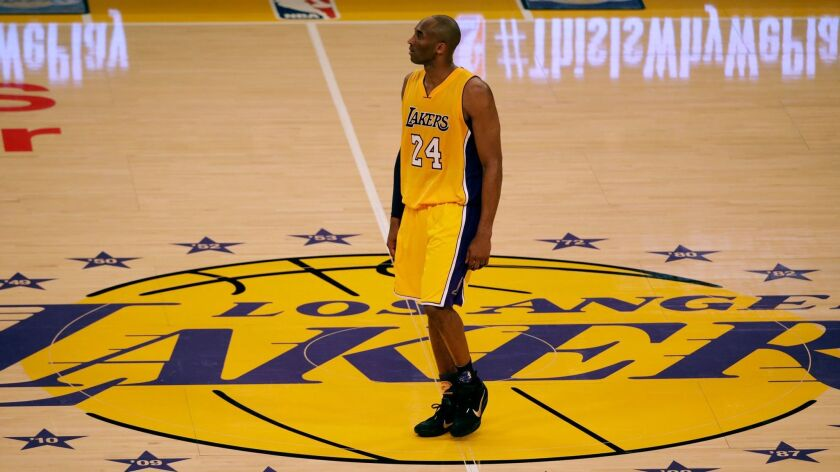LOS ANGELES, CA, WEDNESDAY, APRIL 13, 2016 - Kobe Bryant plays his last game as a Los Angeles Laker