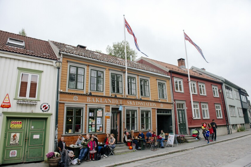 A coffee shop in Norway. The Scandinavian country placed second in a new report ranking the happiest countries in the world.