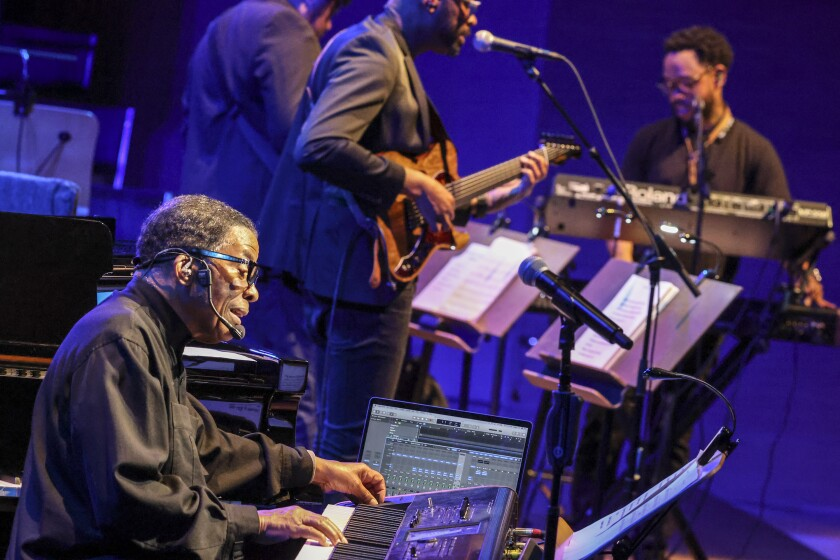 Herbie Hancock hits the keyboards with the L.A. Philharmonic