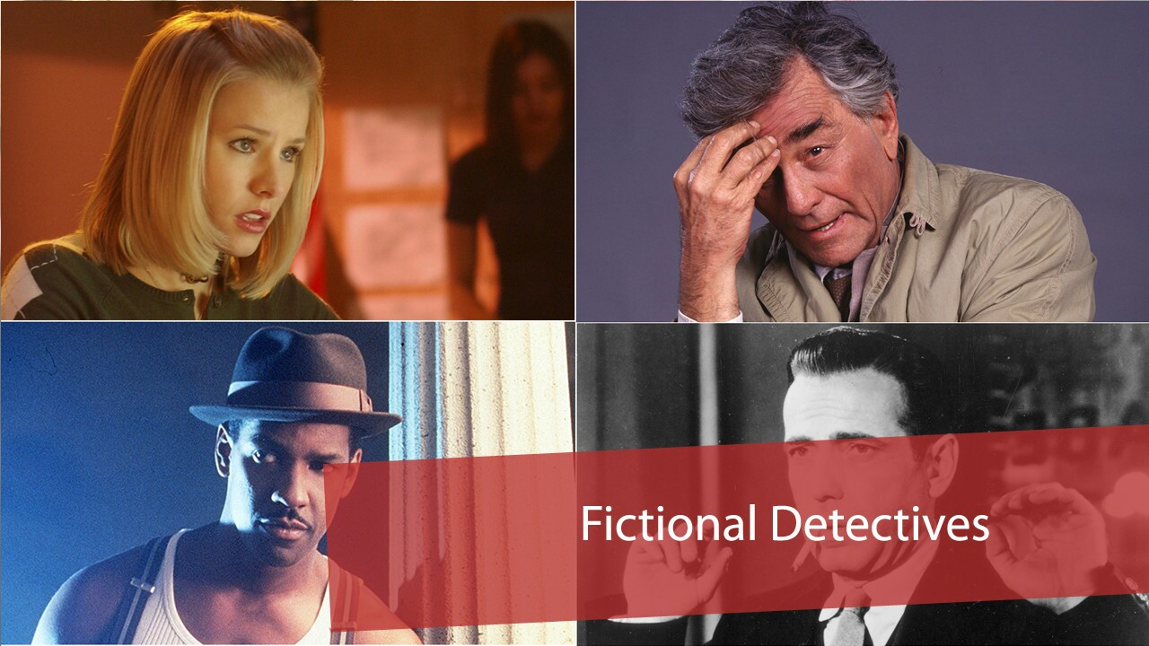 Whether they're police officers, private investigators or just crime novelists with a hobby, these usually capable television and film characters often get to the bottom of whatever mystery is thrown their way.