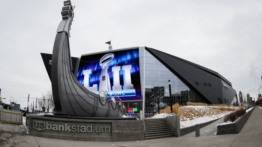 Super Bowl LII will be played Sunday at U.S. Bank Stadium in Minneapolis. It will air on NBC.