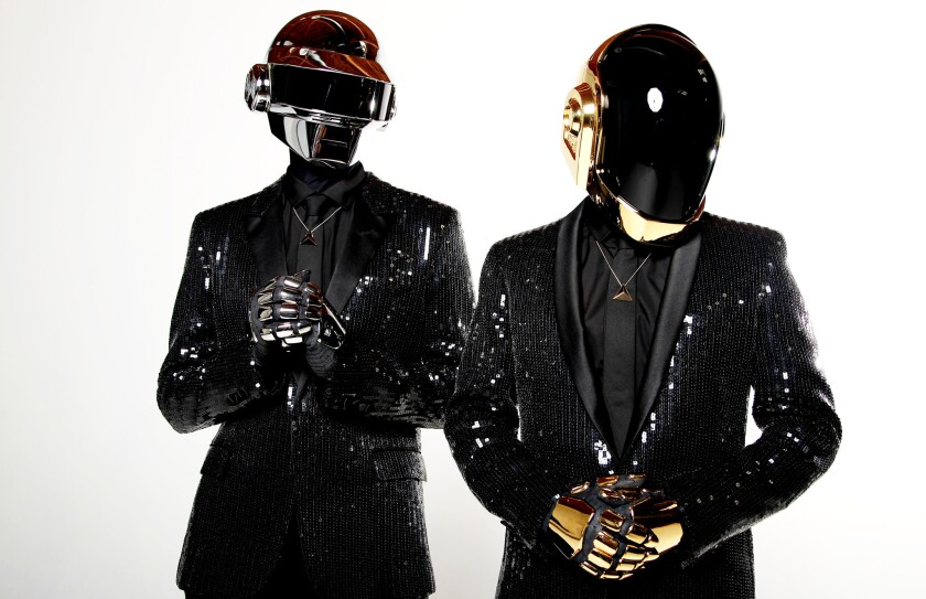 Daft Punk, from left, Thomas Bangalter and Guy-Manuel de Homem-Christo.