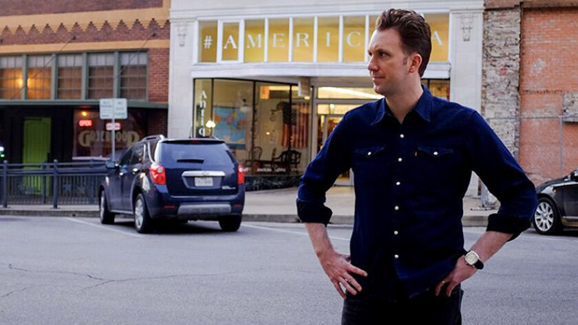 "Jordan Klepper in the humorous documentary ""Klepper"" on Comedy Central."