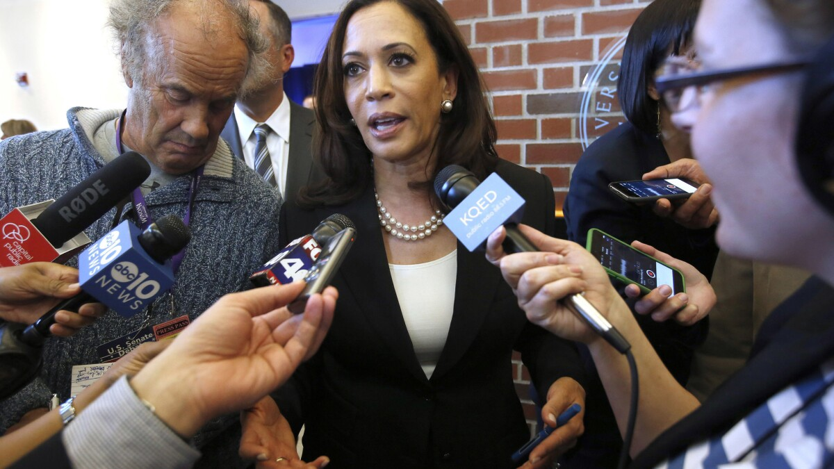 8 Things To Know About Senate Candidate Kamala Harris Career Gold Stars And Demerits Los Angeles Times