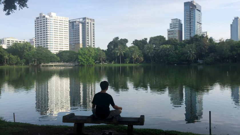 Solitude and stillness are two defining traits of meditation. But there is no one best way.
