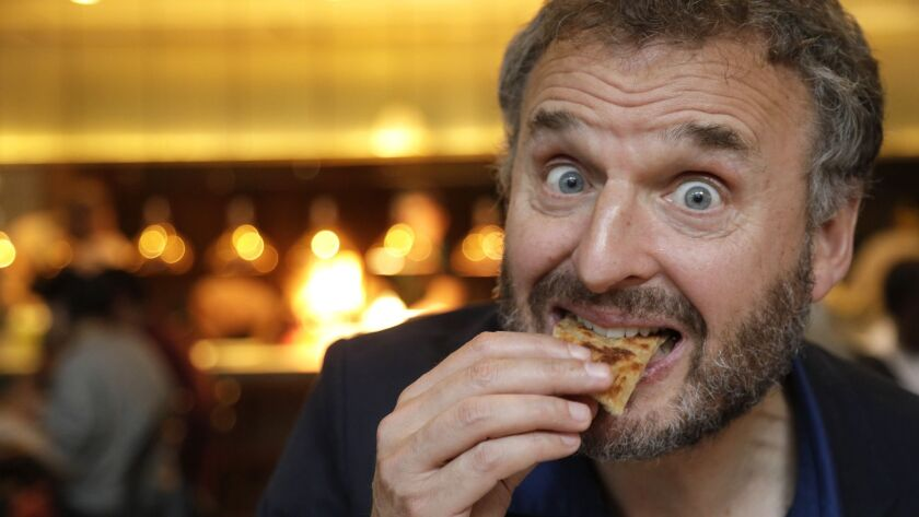 """LOS ANGELES, CA-MAY 30, 2018: Phil Rosenthal of Netflix's """"Somebody Feed Phil, """" savors the flavors"""
