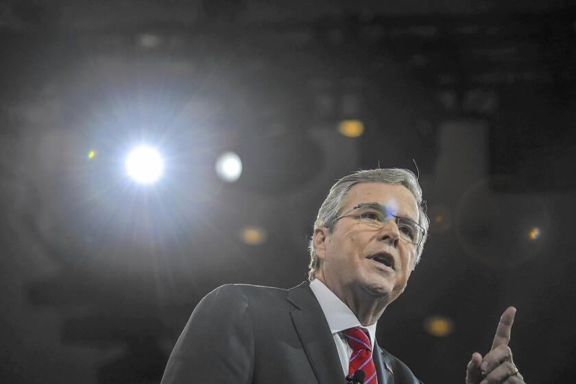 "Jeb Bush has yet to say the magic words, ""I'm running."""
