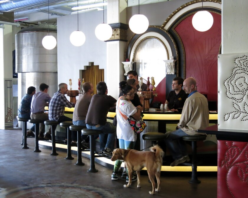 Angel City Brewery is one of L.A.'s dog-friendly brewpubs.