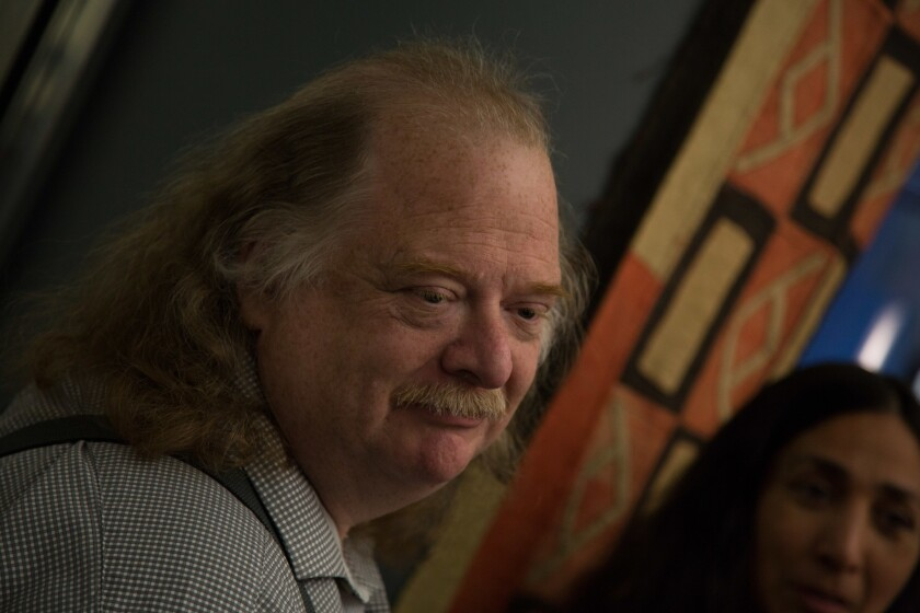 "Jonathan Gold in a scene from the film ""City of Gold."""