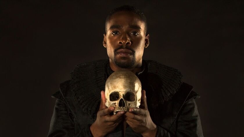 Grantham Coleman appears in the title role of Hamlet, by William Shakespeare, directed by Barry Edel