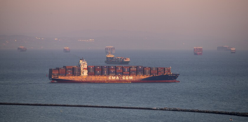 Ports of Los Angeles and Long Beach backup