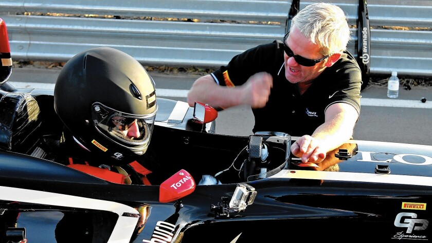 Driving a F1 race car