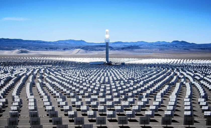 SolarReserve of Santa Monica recently completed Crescent Dunes, touted as a first-of-its-kind solar power plant that stores electricity using salt. The facility, located between Reno and Las Vegas, is 20 times larger than a SolarCity-Tesla solar operation in Hawaii.