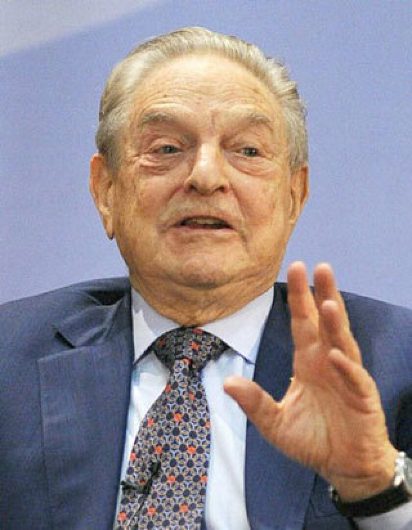 Among the wealthy liberals behind Democracy Alliance is billionaire investor George Soros, shown above speaking at the University of Hong Kong in 2010.