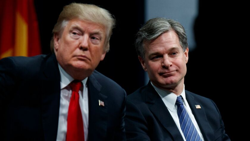 Donald Trump, Christopher Wray