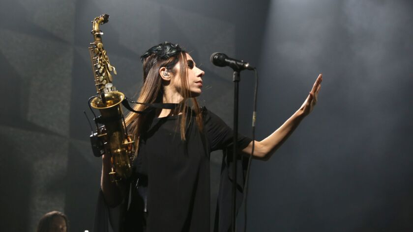 PJ Harvey performs at the Shrine earlier this year.