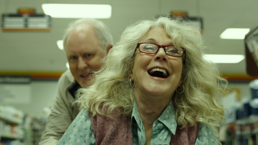 (L-R)- John Lithgow and Blythe Danner star as ?Ed? and ?Ronnie? in Noble Jones? THE TOMORROW MAN, a
