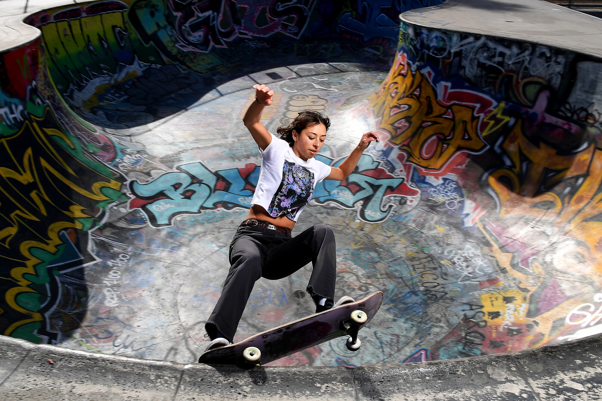 "Lizzie Armanto, photographed at Garvanza Skate Park in Los Angeles, has developed a thick skin in the male-dominated sport of skateboarding: ""I know what I want and what my goals are."""