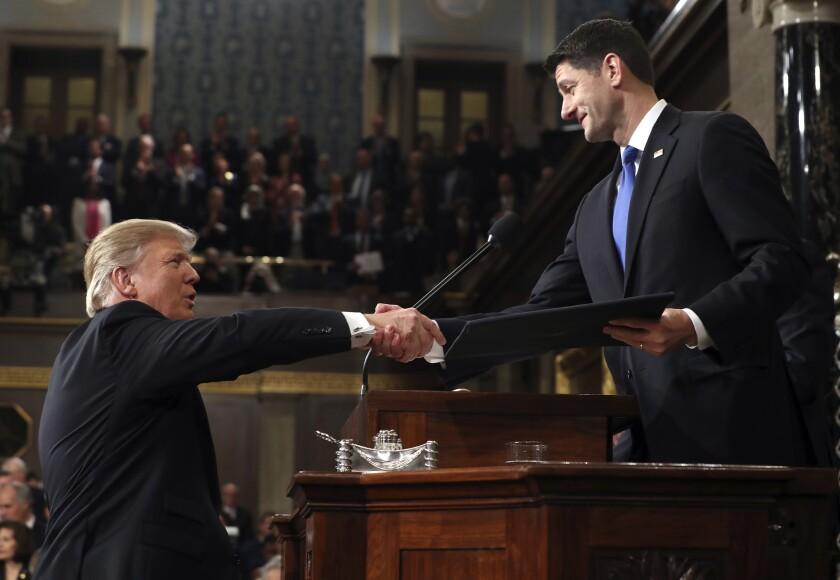 President Trump and House Speaker Paul D. Ryan.