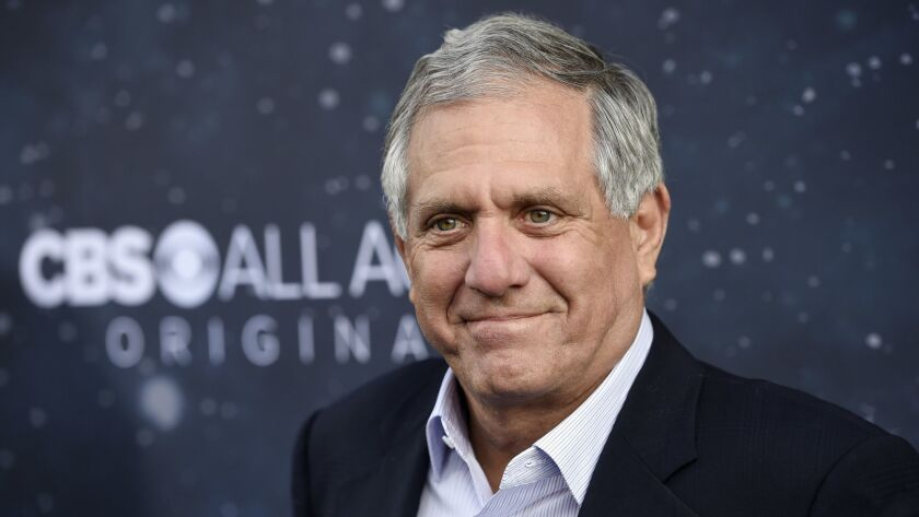 "Les Moonves poses for photos at the premiere of ""Star Trek: Discovery"" in Los Angeles on Sept. 19, 2017."