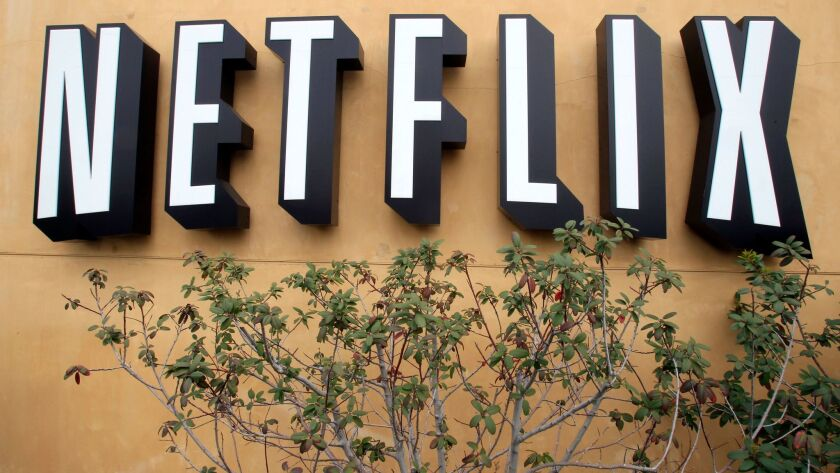 FILE - In this April 22, 2011 photo, the logo of Netflix is displayed at the headquarters in Los Gat
