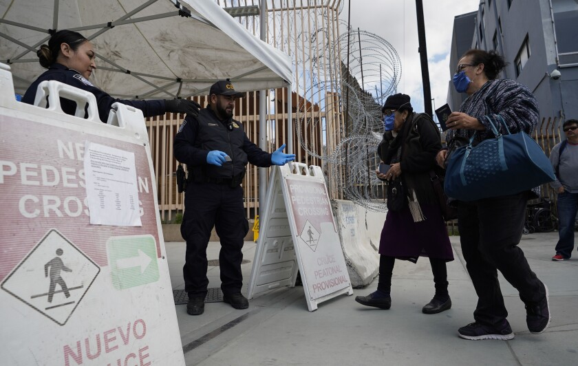 Tijuana checkpoint