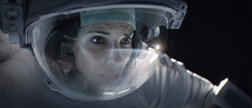 """Sandra Bullock stars in """"Gravity,"""" which will probably be the No. 1 film at the box office this weekend."""