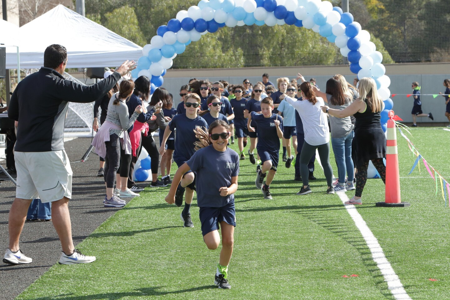 Notre Dame Academy 5th and 6th grade students participate in the Jog-A-Thon