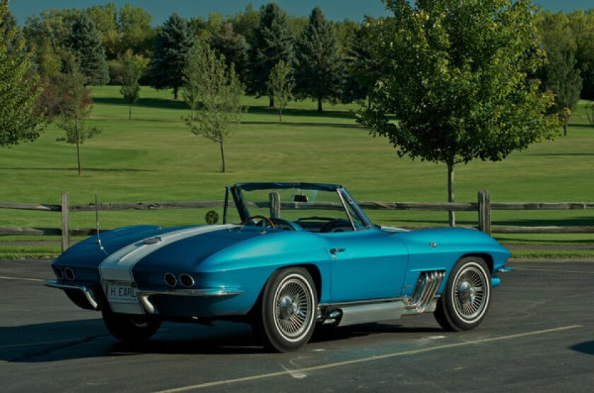 This 1963 Chevrolet Corvette was once owned by famed GM designer Harley Earl. Mecum Auctions, the company selling the car Oct. 12, estimates the car could sell for $1.5 million to $2 million.