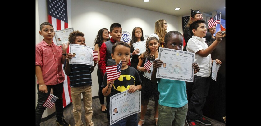Children recognized as U.S. citizens
