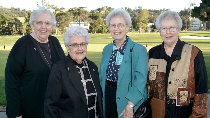 Among the Sisters of Providence in attendance at last week's fundraiser were Sisters Barbara Schanba