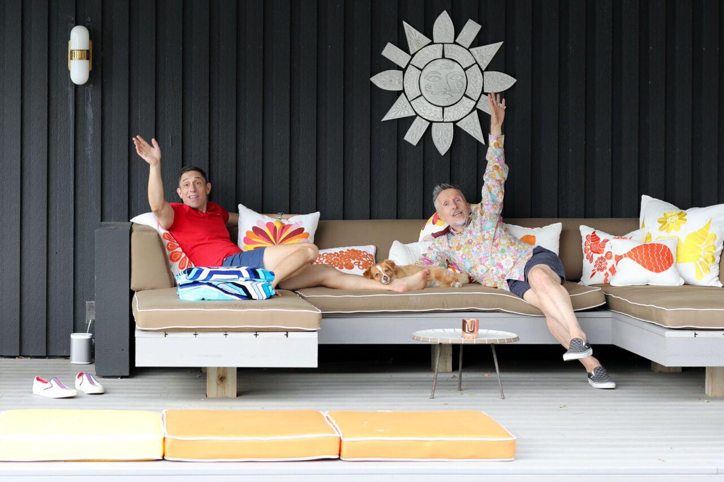 Designer Jonathan Adler and husband Simon Doonan at home in New York.