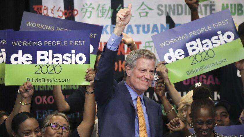 NY Hotel And Motel Trades Council Endorses Presidential Candidate Bill De Blasio