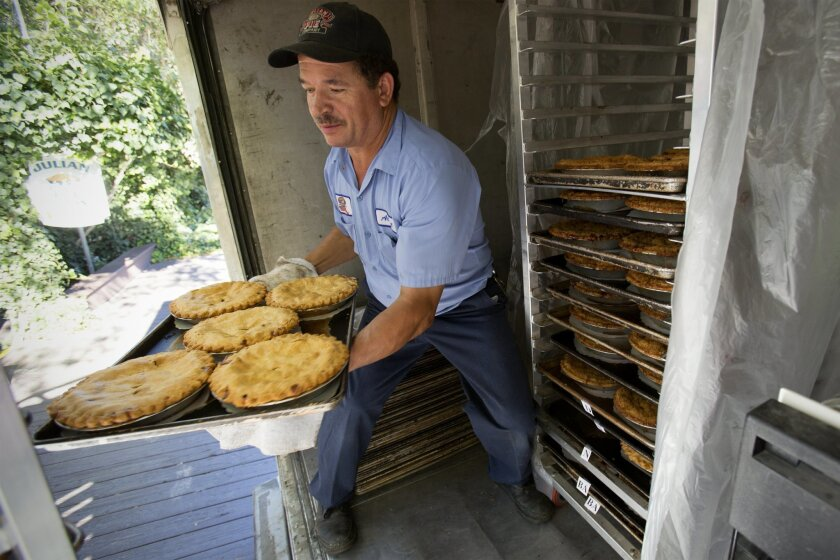 Before the morning Friday rush arrived at the Julian Pie Company in Julian, Albert Silva delivered more than 200 hot and fresh baked apple pies. Julian Pie Company offers 4 traditional apple pies and 5 different apple combination pies.