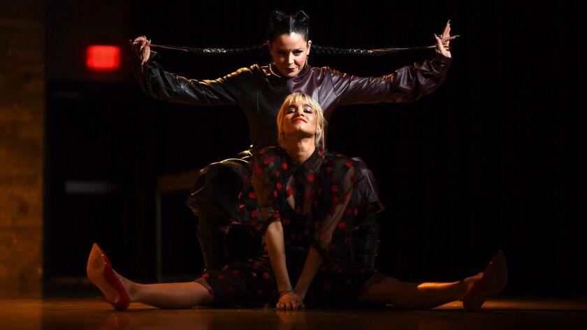 LOS ANGELES, CALIFORNIA FEBUARY 28, 2019-Choreographer Nina McNeely, top, and dancer and star Sofia
