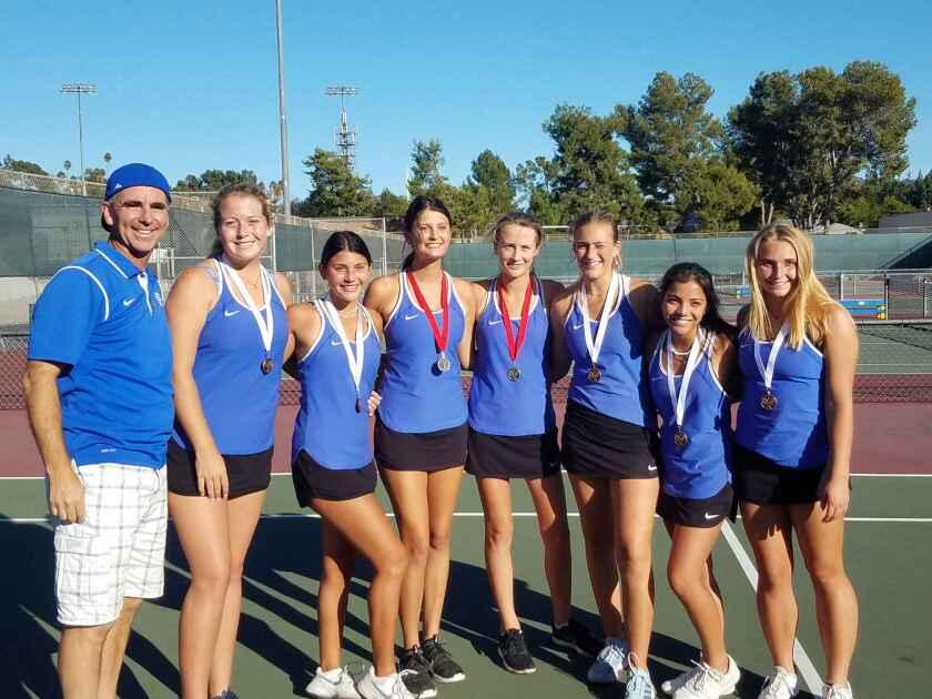 Bulldogs girls tennis CIF tournament